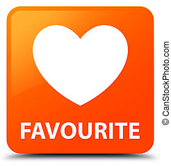 Favourite (heart icon) orange square button