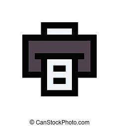 fax flat color icon