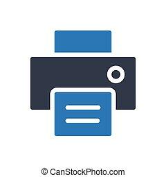 fax glyph color icon