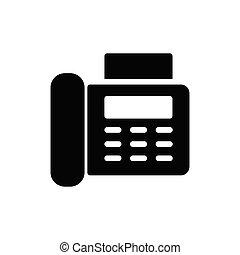 fax glyph flat icon
