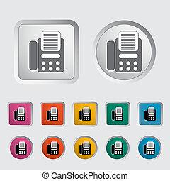 fax, icon.