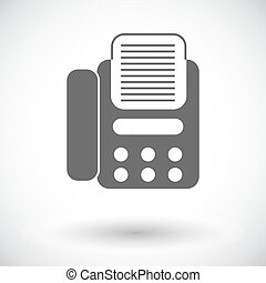 Fax icon. - Fax. Single flat icon on white background. ...