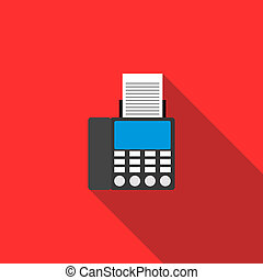 Fax icon in flat style