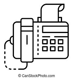 Fax icon, outline style