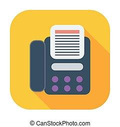 Fax icon. Single flat color icon. Vector illustration.