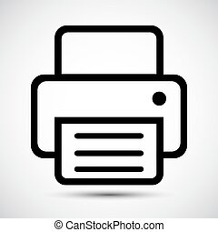 Fax Icon Symbol Sign Isolate on White Background, Vector Illustration EPS.10