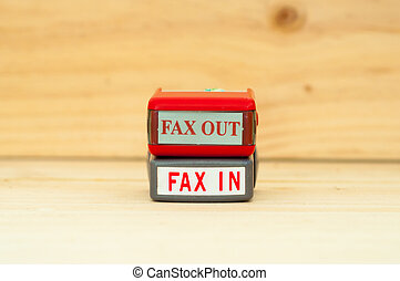 rubber stamper - Fax in Fax out rubber stamper