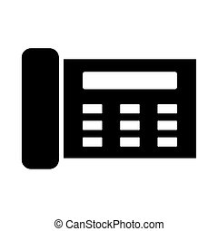 Fax it is black icon . Flat style