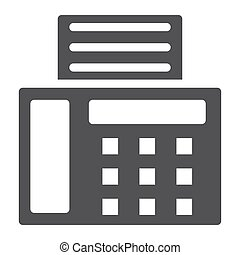 Fax solid icon, Contact us and website