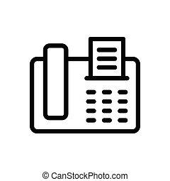 fax thin line icon