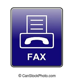 fax - This is a image of web button.