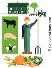 fazenda, agricultor