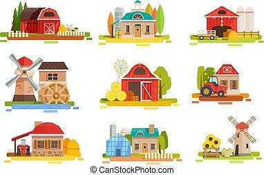 fazenda, apartamento, paisagem, cobrança
