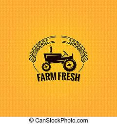 fazenda, desenho, trator, fundo