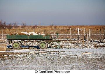 fazenda, em, inverno