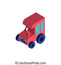 fazenda, fundo, branca, trator, vermelho