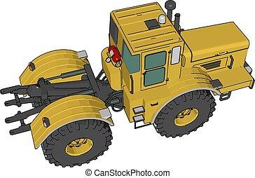 fazenda, ilustração, cor, vetorial, veículo, ou