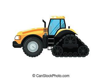 fazenda, lagarta, vetorial, trator, ilustração