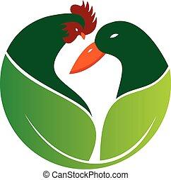 fazenda, logotipo, verde