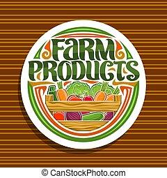 fazenda, logotipo, vetorial, produtos