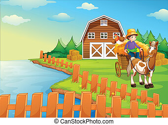 fazenda, menino