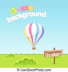 fazenda, sinal, experiência., jogo, vetorial, tábua, vegetal