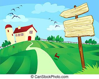 fazenda, sinal