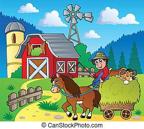 fazenda, tema, imagem, 6