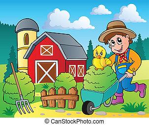 fazenda, tema, imagem, 7