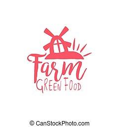 fazenda, vindima, emblema, verde