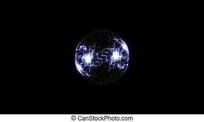 fazendo, de, planeta, rede, sobre, experiência preta
