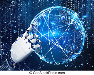 fazendo, futuro, robô, visão, hand.3d