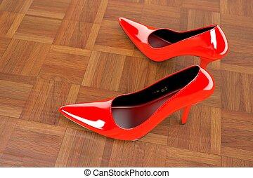 fazendo, modelo, formal, sapatos, 3d
