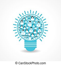 &, fazer, ícones, femininas, macho, light-bulb