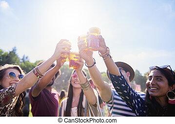 fazer, alegrias, música, festival, amigos