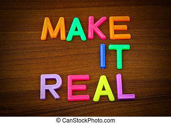 fazer, aquilo, real, em, coloridos, brinquedo, letras,...