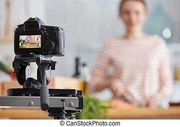 fazer, cozinhar, vlog