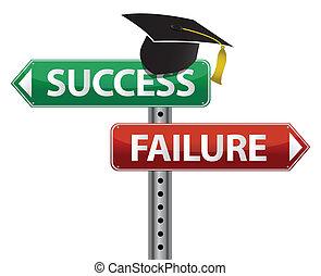 fazer, decisão, chapéu, graduação