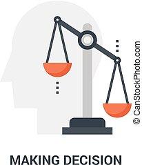 fazer, decisão, conceito, ícone