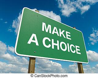 fazer, escolha