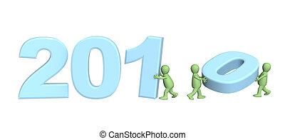 fazer, fantoches, número, 2010, três