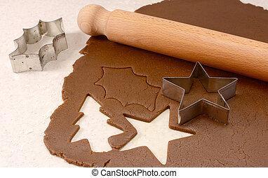 fazer, gingerbread, biscoitos