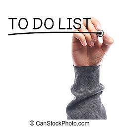 fazer lista