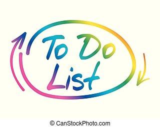 fazer lista, conceito negócio, mapa