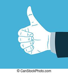 fazer, mão, tá bom sinal
