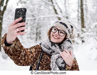 fazer, menina, selfie