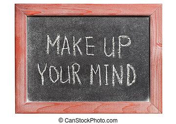 fazer, mente, cima, seu