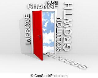 fazer, mudança