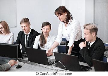 fazer, negócio, excelente, decisões, grupo, empregados