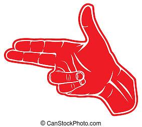fazer, pointed, forma, mão